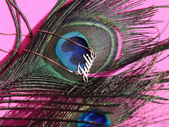 blog beaité bijoux O'Neclace collier pendentif or rose prénom allegro