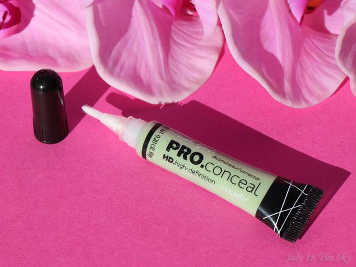 blog beauté LA Girl HD Pro Conceal solution bouton vert