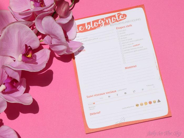 blog beauté organisation bloguer Les Blog' Notes jenepeuxpasjaibloguing