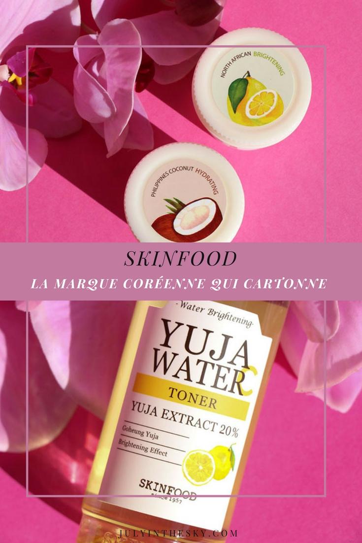 blog beauté skinfood freshmade mask yuja water