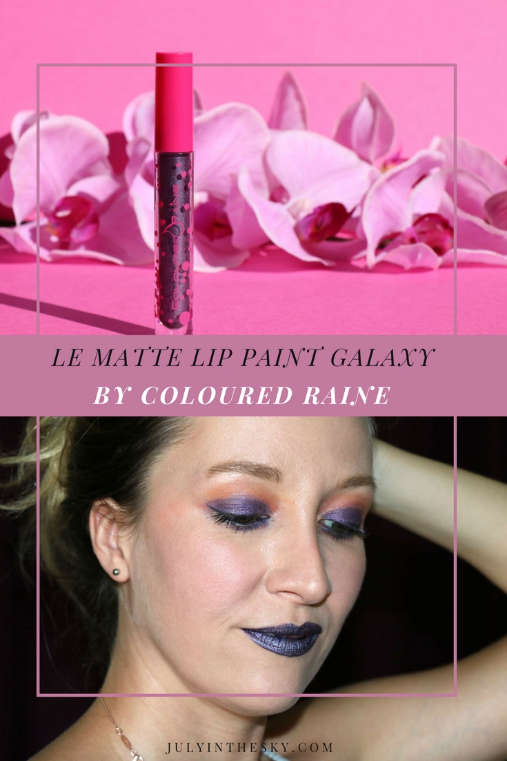 blog beauté matte lip paint coloured raine galaxy