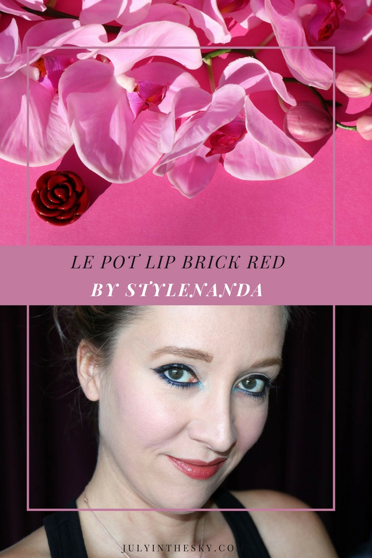 blog beauté pot lip stylenanda 3ce brick red