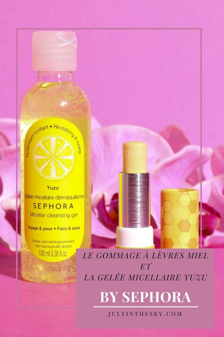 blog beauté made in sephora gelée micellaire yuzu