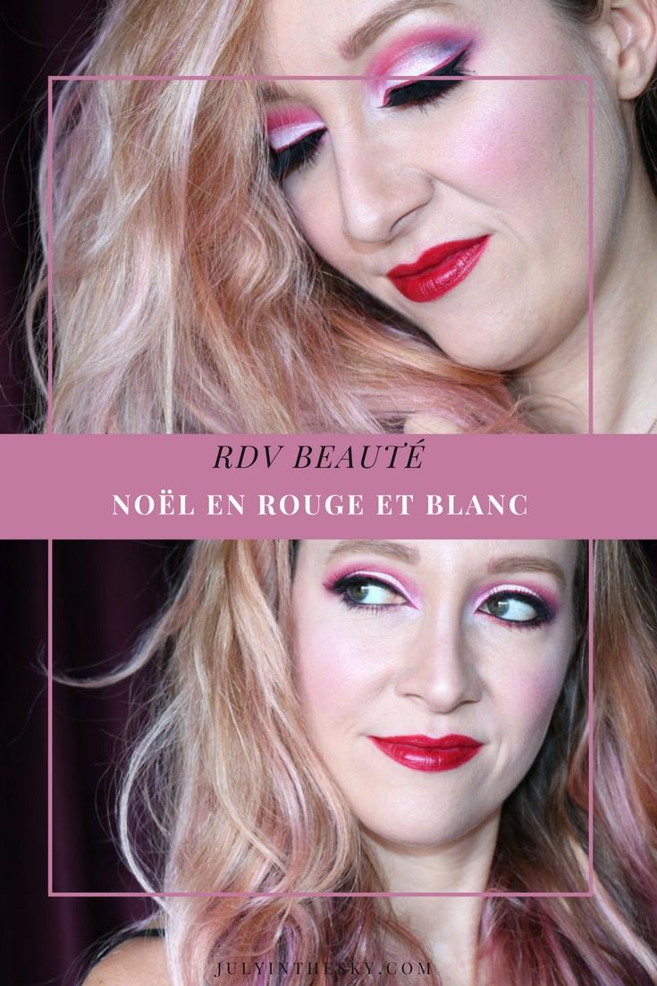 blog beauté RDV Beauté make-up Noël rouge blanc Red Geisha
