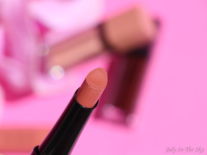 blog beauté Bourjois Rouge Velvet The Lipstick Peach Tatin avis test swatch