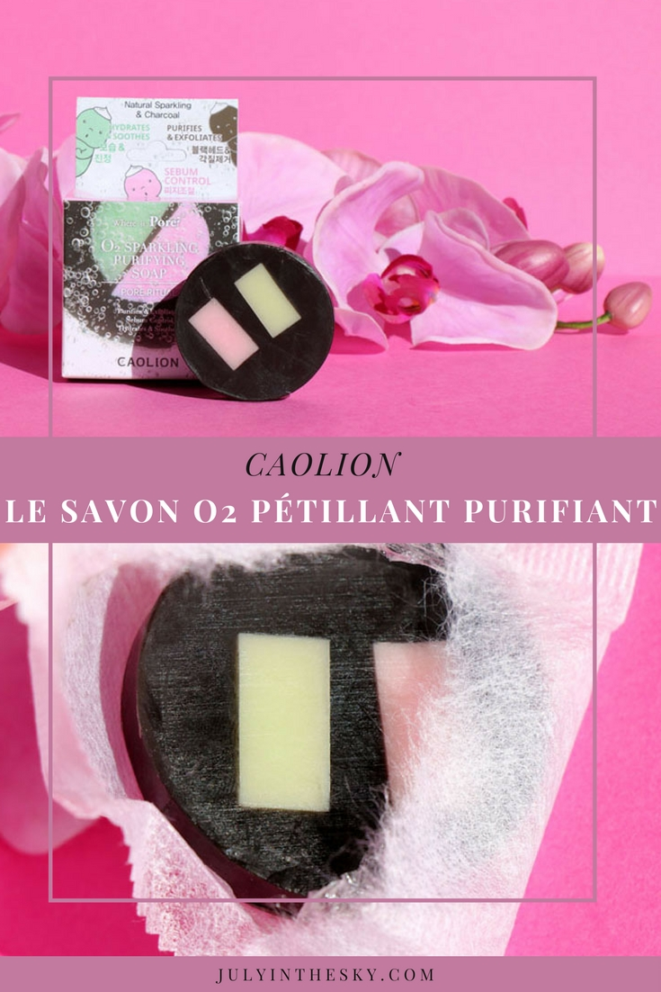 blog beauté Savon O2 Pétillant Purifiant Caolion avis kbeauty