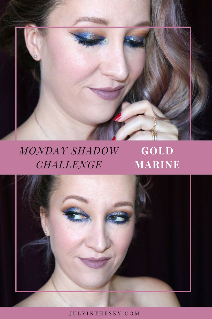 blog beauté tutoriel Monday Shadow Chjallenge make-up or marine