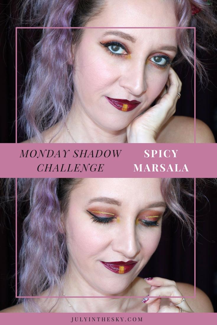 blog beauté tutoriel maquillage Monday Shadow Challenge Jaune Marsala