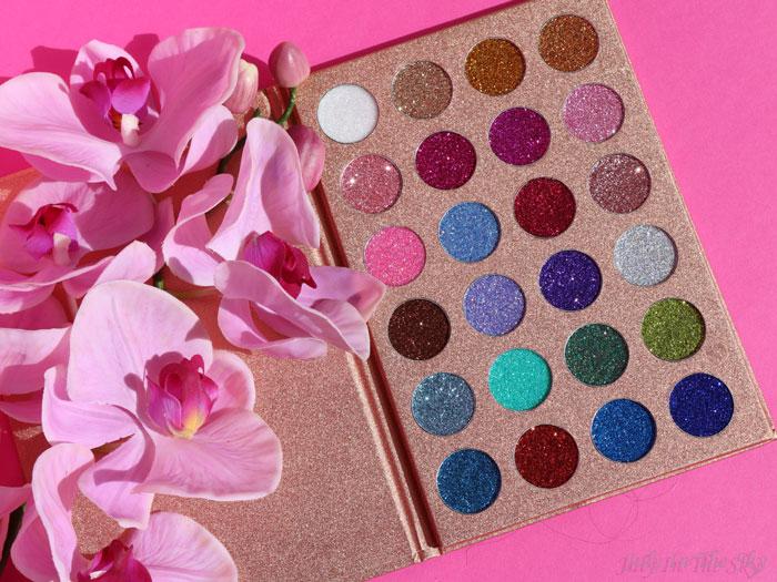 Glitter Life avec la Bomb Dot Com Palette de Jolie Beauty