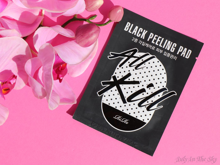 blog beauté kbeauty Joah Box avril avis test All Kill Black Peeling Pad Rire
