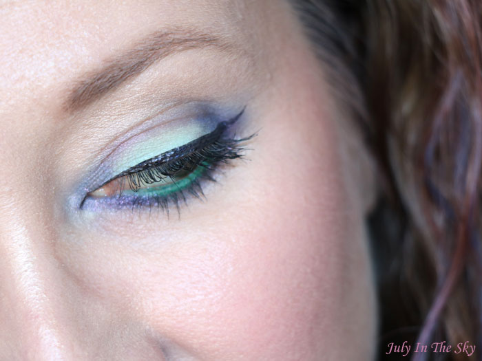 blog beauté Monday Shadow Challenge menthe champagne tutoriel maquillage