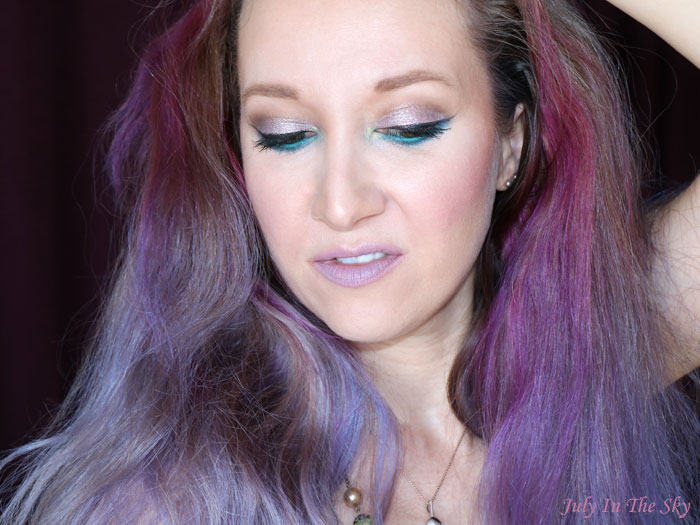 blog beauté tutoriel mondau shadow challenge teal rose gold