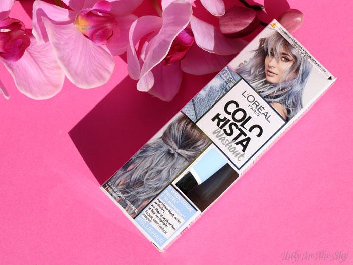blog beauté L'Oréal Colorista Washout #BlueHair avis cheveux verts problème