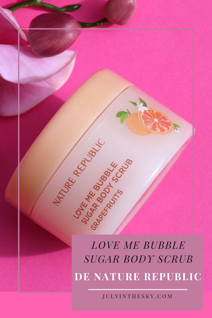 blog beauté kbeauty Nature Republic Love Me Bubble Sugar Body Scrub