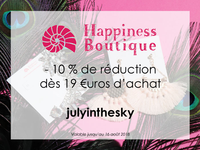 blog beauté partenariat Happiness Boutique code réduction