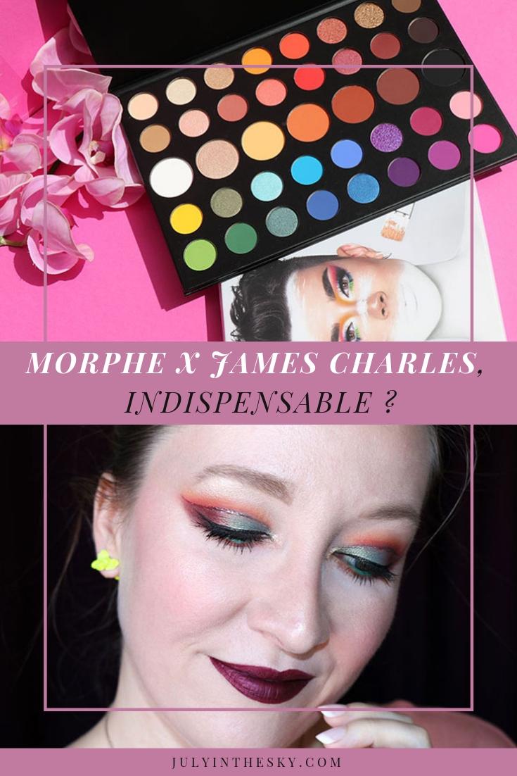 blog beauté avis Morphe x James Charles palette de mise en beauté