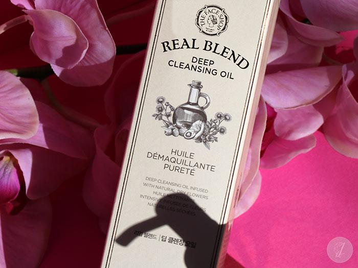 blog beauté kbeauty Real Blend Cleansing Oil The Face Shop