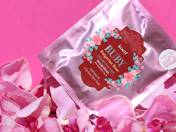 blog beauté kbeauty Niasha PetitFee Ruby Bulgarian Rose Hydrogel Face Koelf