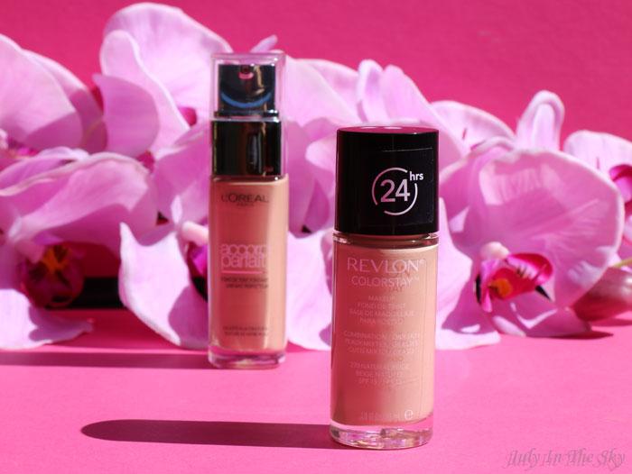 blog beauté fond de teint l'oreal accord parfait revlon color stay match petit prix