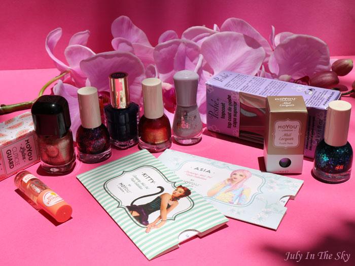 blog beauté haul vernis moyou l'oréal h&m essence poshe