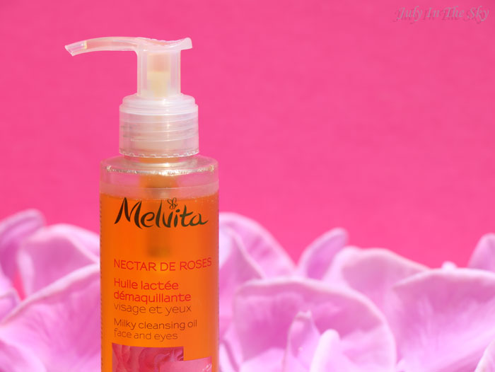 blog beauté melvita monde bio nectar de rose huile demaquillante lactée