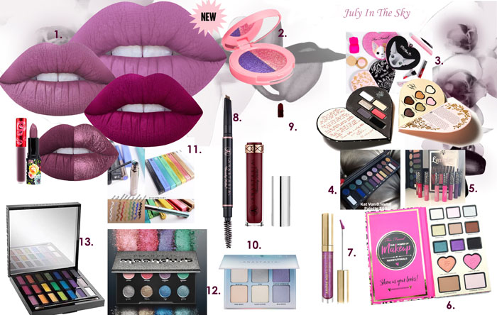 blog beauté wishlist automne Limecrime anastasia beverly hills france kat von d too faced urban decay