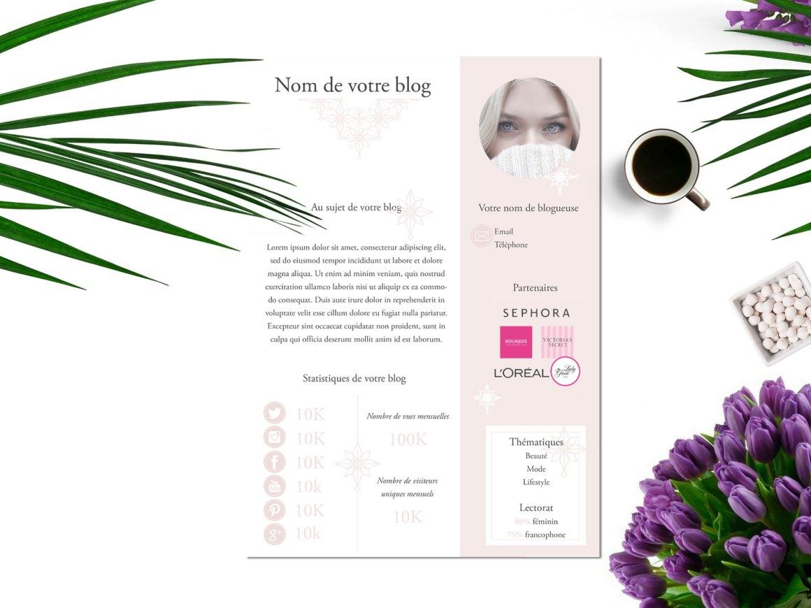 Créer un média kit pour votre blog + modèle à télécharger gratuitement