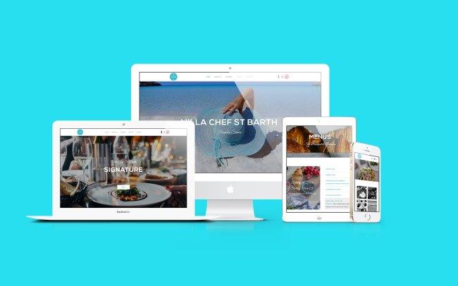 Site vitrine Villa Chef St Barth - Web Design - 2019