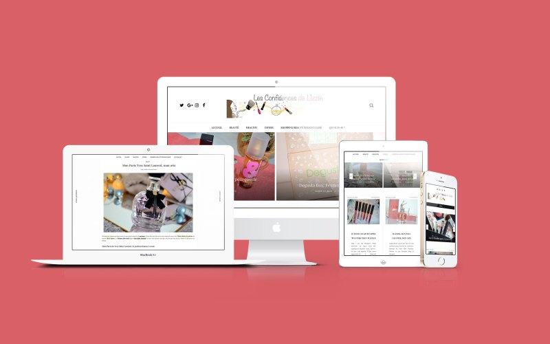 Réparation et amélioraton du blog Les Confidences de Lizzie - Web Design - 2020
