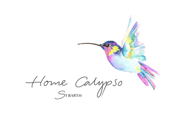 Création du logo illustré à l'aquarelle de Home Calypso - Graphisme - 2021