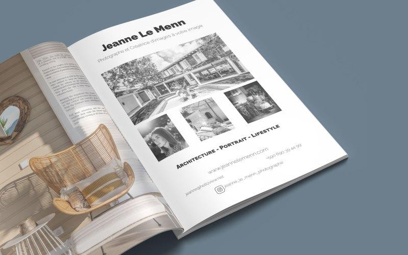 Création d'une publicité destinée au print pour la photogrtaphe 'Jeanne Le Menn