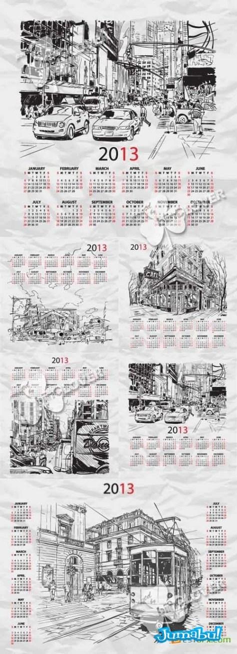 calendario-2013-vectores