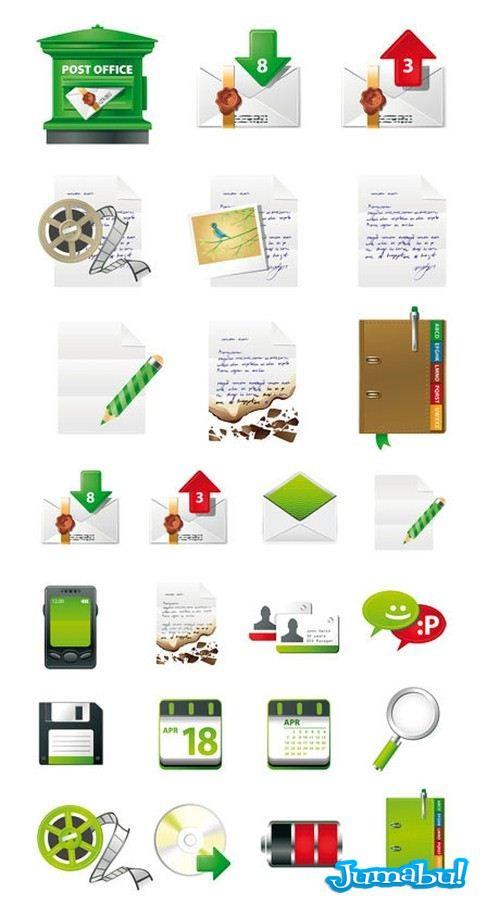 4cbc61676fc74cb13ede0100 - Iconos de Correo Postal en Vectores