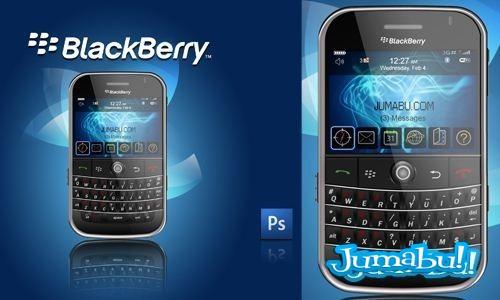 Blackberry PSD By DP Studios - Blackberry en Photoshop Capa por Capa!