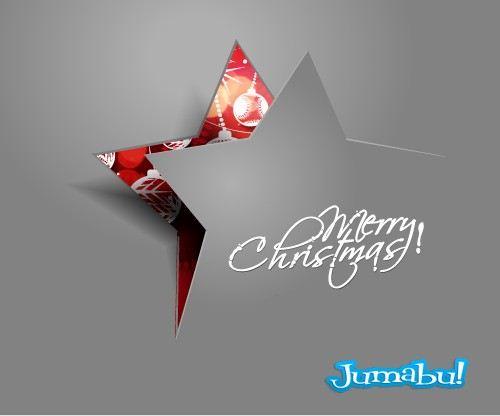 Estrella-navidad-carton-vectores