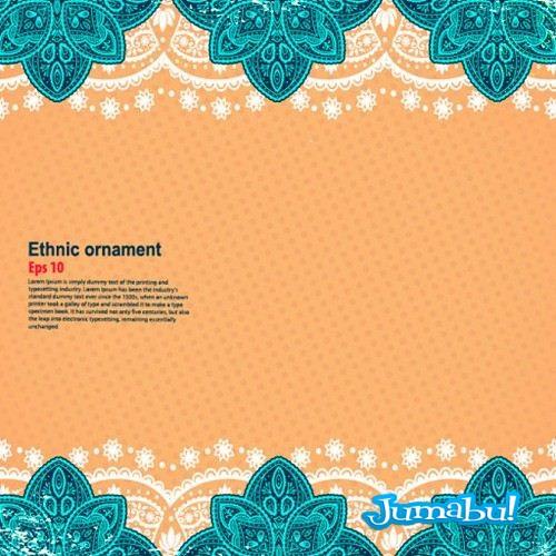 Indian Floral ornament vectorizado - Vectores para Diseño de Mandalas