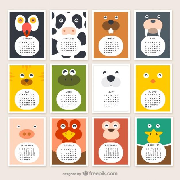 Calendar Design Tool : Calendarios infantiles jumabu