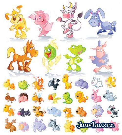 animalitos en vectores - Animalitos Dibujados Vectorizados