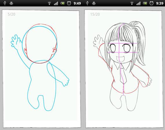 aprendiendo a dibujar-con-el-telefono
