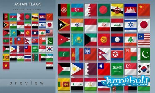 banderas asiaticas flags asian - Banderas Asiáticas en PNG