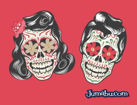 calaveritas-halloween-mexicanas-vectores-rock