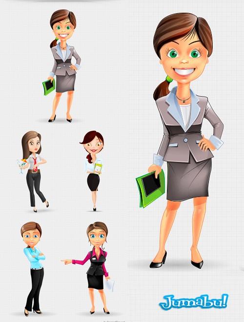dibujo-oficinista-mujer