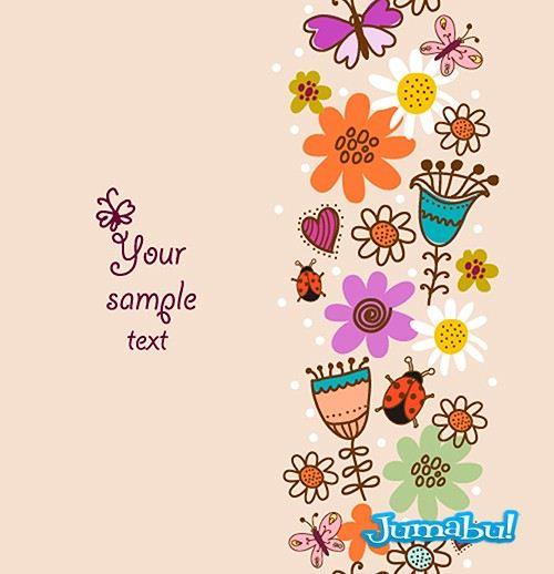 Dibujos de Flores Coloridas en Vectores  Jumabu