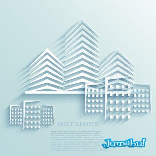 edificios-realizados-en-papel-vectores-3d