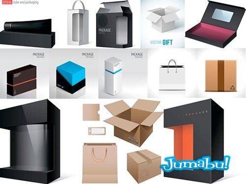 embalajes cajas vectores - Packs, Cajas, Embalajes para productos en Vectores