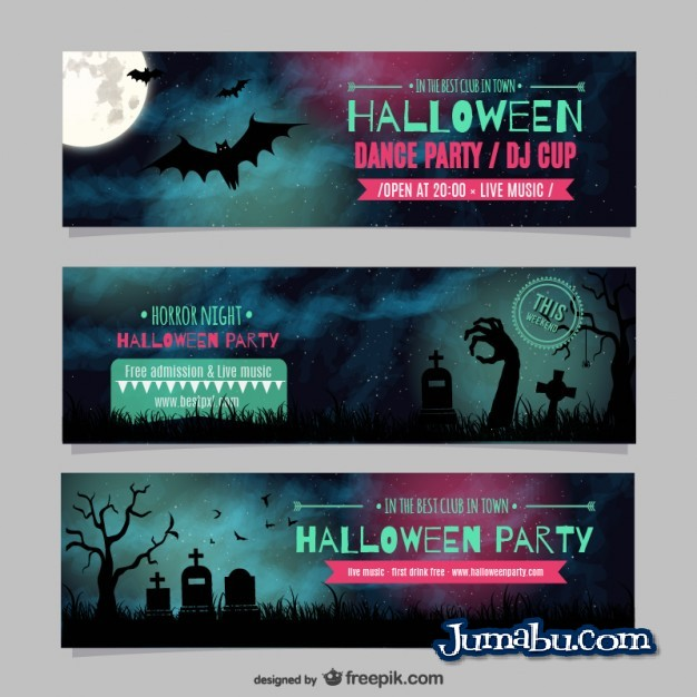 encabezados-halloween-headers-vectores