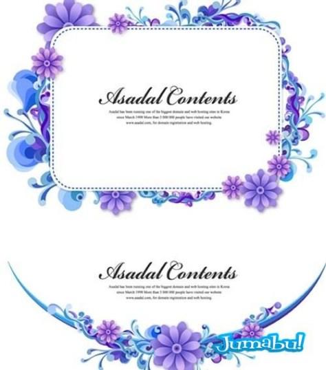 vectores-flores-azules-violetas-margaritas-tocados
