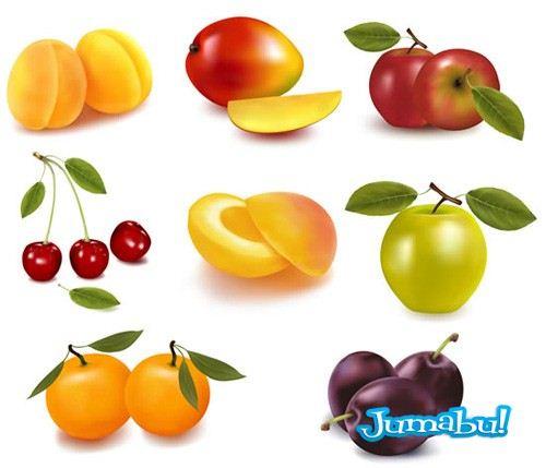 fruits - Frutas de Estación en Vectores