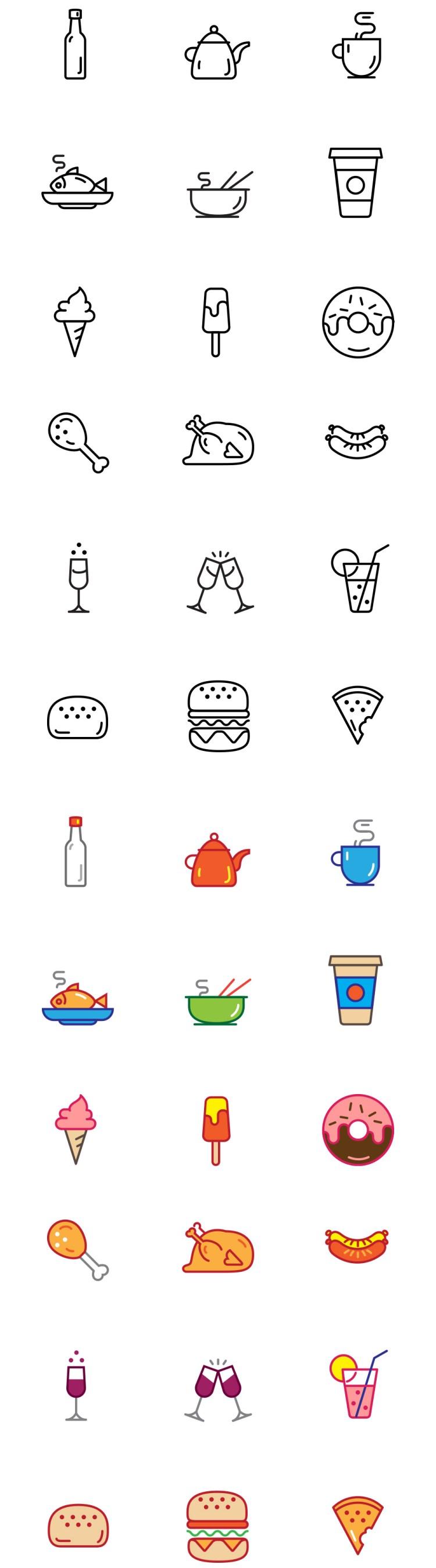 iconos-comida-gratis
