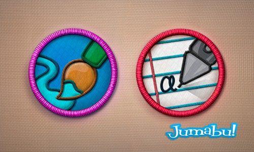 iconos efecto bordado photoshop - Iconos Bordados en PSD